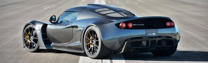 2018 Hennessey Venom GT Racing Bugatti Rear View