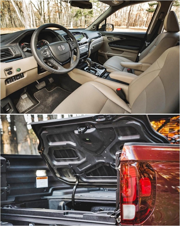 2019 Honda Ridgeline Interior and Tailgate
